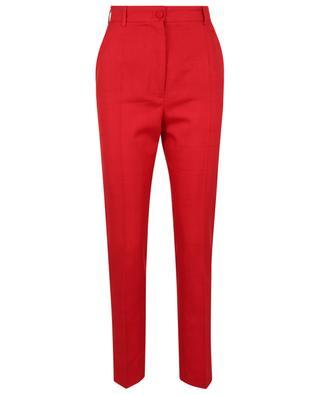 Pantalon raccourci taille haute en toile schappe DOLCE & GABBANA