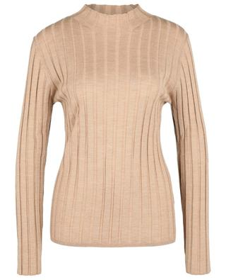 Fine rib knit sheath jumper with stand-up collar BONGENIE GRIEDER
