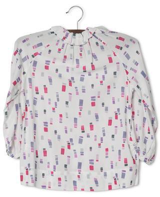 Bluse aus Viskose mit Rechteck-Print IL GUFO