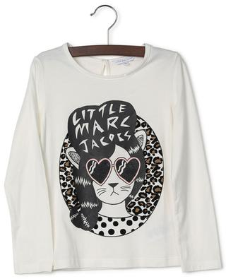 Printed cotton and modal T-shirt with long-sleeves LITTLE MARC JACOBS