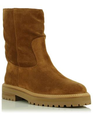Yari Flat shearling and suede ankle boots JIMMY CHOO