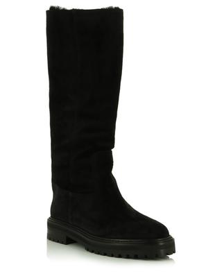 Yomi Flat warmly trimmed suede boots JIMMY CHOO