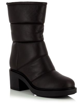 Husky warm heeled nappa leather ankle boots GIANVITO ROSSI