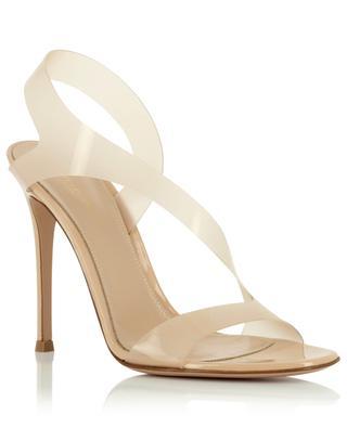 Metropolis 105 heeled patent leather and Plexiglas sandals GIANVITO ROSSI