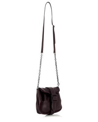 Petit sac à main en cuir lisse plissé Bellavita 21510 Nuvolato Prugna PLINIO VISONA'