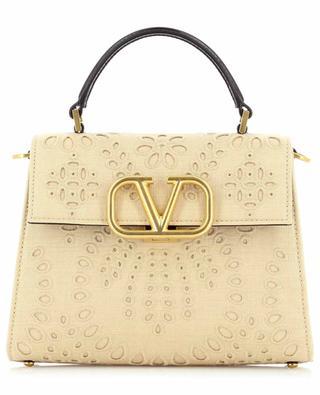 VSling San Gallo Small leather and fabric handbag VALENTINO