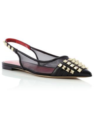 Rockstud Alcove pointy toe sling back ballet flats VALENTINO