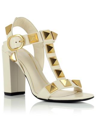 Sandalen aus Leder mit Blockabsatz Roman Stud 90 VALENTINO