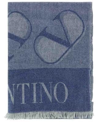 VLogo Signature large cashmere scarf VALENTINO