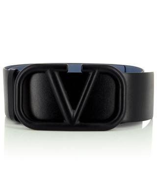 Supervee large reversible light blue and black belt VALENTINO