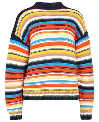 Pull oversize à rayures multicolores en coton pima VICTORIA VICTORIA BECKHAM