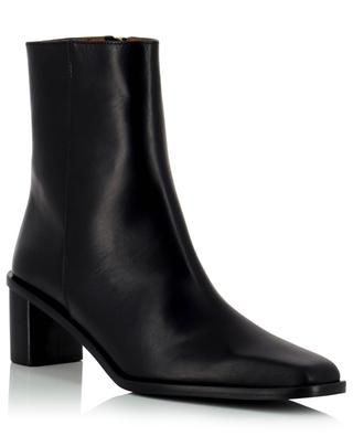 Torina 50 block heeled smooth leather ankle boots ATP ATELIER