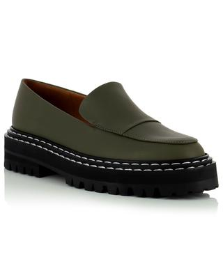 Manduria chunky sole leather loafers ATP ATELIER