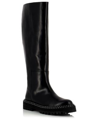 Jesi flat smooth leather boots ATP ATELIER