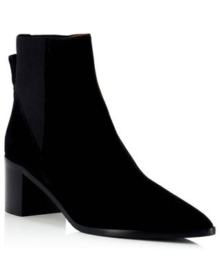 Donaci 55 block heeled pointy toe suede ankle boots ATP ATELIER