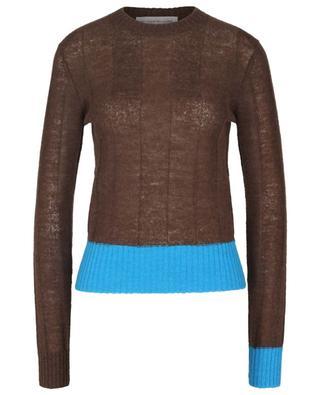 Pull bicolore côtelé en laine alpaga VICTORIA BECKHAM