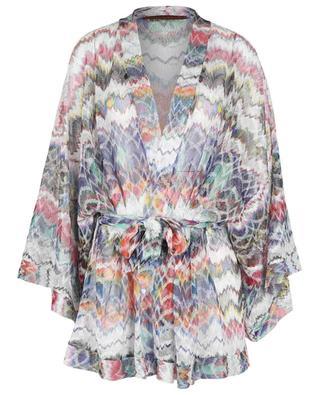 Bunter Strand-Strick-Kimono mit Zickzackmuster MISSONI MARE