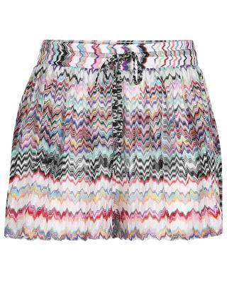 Strand-Shorts aus Strick mit Zickzackmuster MISSONI MARE