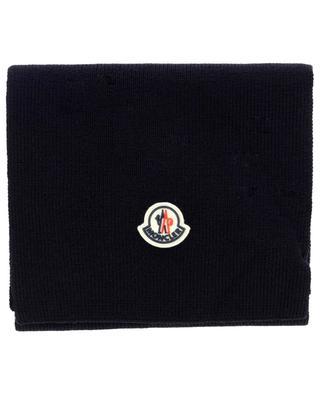 Écharpe de couleur unie avec logo Sciarpa MONCLER