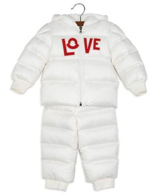 Combinaison de neige bébé patch LOVE Alya MONCLER