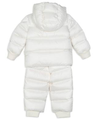 Alya LOVE patch adorned baby snowsuit MONCLER