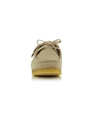 Wallabee Vegan lace-up loafers in faux suede CLARKS ORIGINALS