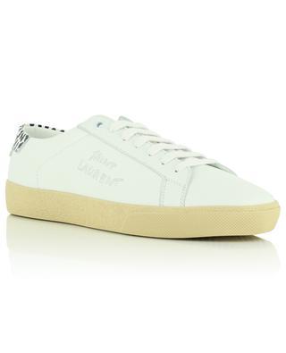 Niedrige Sneakers aus Leder mit Leo-Detail Court Classic SL/06 SAINT LAURENT PARIS