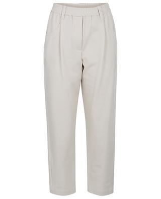 Pantalon droit en jersey esprit jogging BRUNELLO CUCINELLI