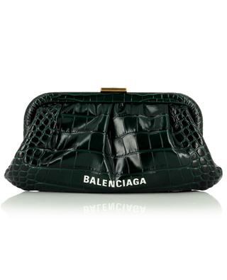 Cloud XS croc embossed leather clutch BALENCIAGA