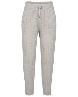 Pantalon de jogging en maille de mohair et laine vierge Sparkling Cable BRUNELLO CUCINELLI