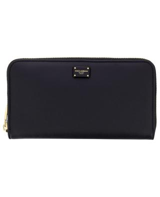 Logo adorned smooth leather zip-around wallet DOLCE & GABBANA