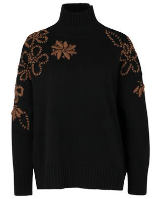 Hand embroidered boxy jumper in wool and cashmere ERMANNO SCERVINO