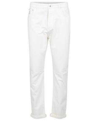 Jeans aus aufgerautem Baumwoll-Denim Garment Dyed Leisure Fit BRUNELLO CUCINELLI