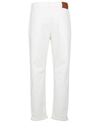 Jean en denim de cotton flammé Garment Dyed Leisure Fit BRUNELLO CUCINELLI