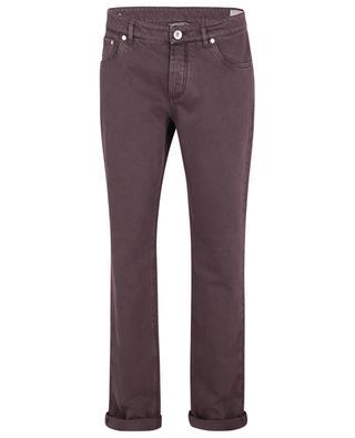 Slim-Fit-Jeans in Aubergine Traditional Fit BRUNELLO CUCINELLI