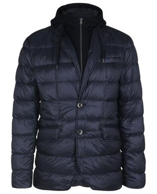 Resort Nylon Ultralight quilted blazer with knit detail HERNO