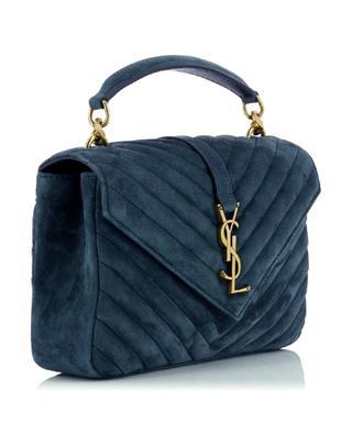 College Medium quilted suede handbag SAINT LAURENT PARIS