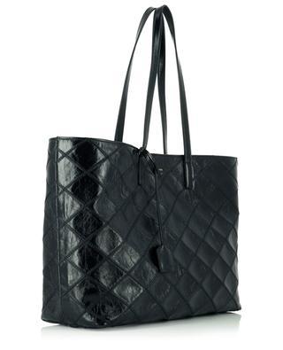 Sac cabas en cuir froissé matelassé Shopping Bag E/W SAINT LAURENT PARIS
