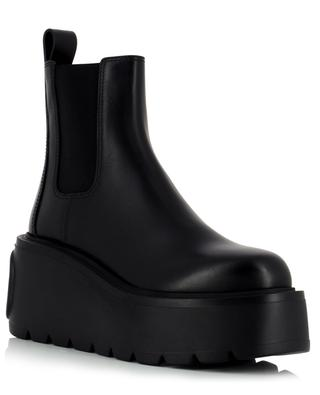 Uniqueform wedge chelsea ankle boots ein leather VALENTINO
