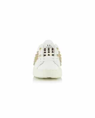11. Rockstud Untitled studded low-top leather lace-up sneakers VALENTINO