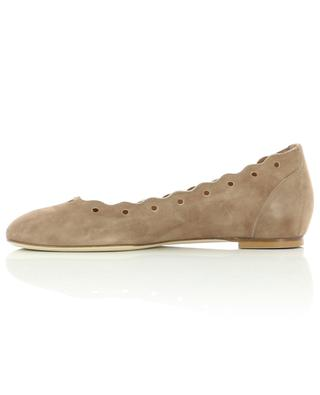 Camoscio Suede ballet flats with scalloped edges BONGENIE GRIEDER