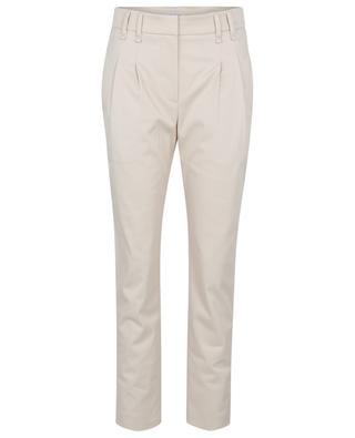 Pantalon à pinces en coton cover Pleated Chino BRUNELLO CUCINELLI