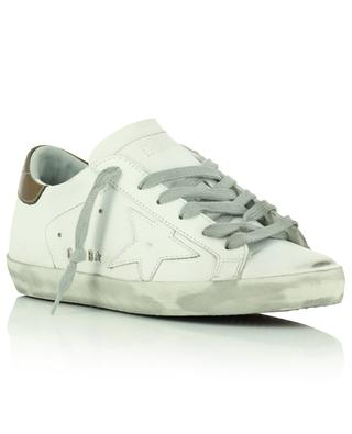 Super-Star white distressed leather low-top lace-up sneakers GOLDEN GOOSE