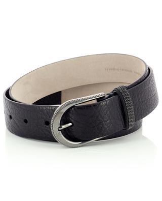 Monile adorned grained leather belt BRUNELLO CUCINELLI