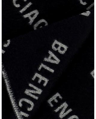 Logo All Over wool jacquard scarf BALENCIAGA