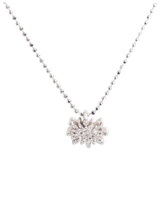 Collier en or blanc avec diamants Soleil Petit Modèle GBYG