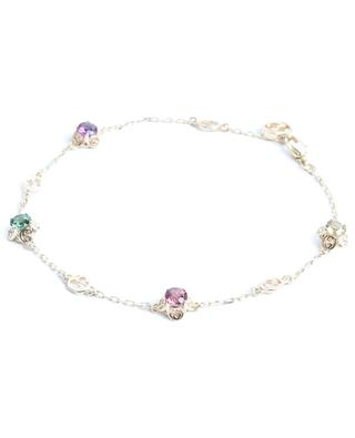 Bracelet en or jaune Interlocking G Gems GUCCI