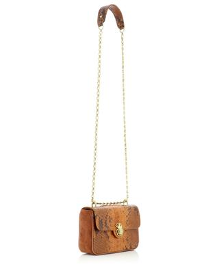 Mini Ava suede and python leather shoulder bag CLARIS VIROT