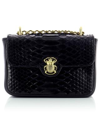 Mini Ava smooth leather and python leather shoulder bag CLARIS VIROT