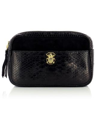Lily suede and python shoulder bag CLARIS VIROT